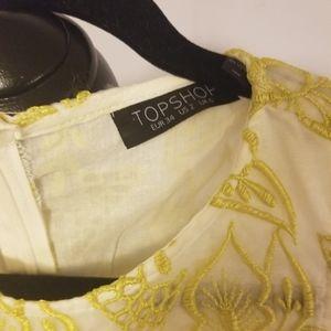 Topshop Dresses - Topshop Leaves Stiching Dress